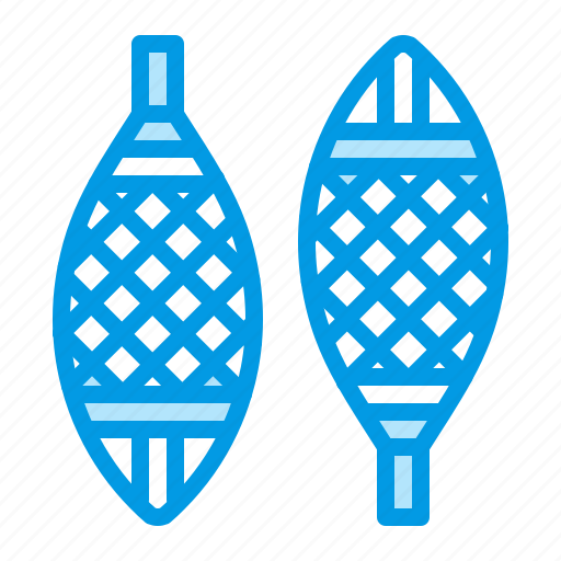 snowshoes, sport, winter icon