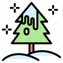christmas, pine, nature, snow, tree, winter icon