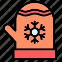 fashion, winter, mittens, snowflake, gloves, accesories, warm icon