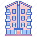apartment, building, property, real estate icon