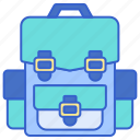 backpack, bag, holiday, travel icon