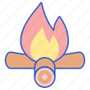 bonfire, camp, fire, flame icon