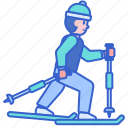 country, cross, skiing, sports