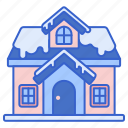 building, holiday, house, snow