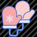 gloves, hand, mittens, winter icon
