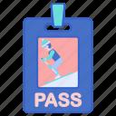 pass, ski, sports, winter icon