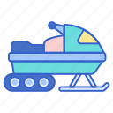 mobile, snowmobile, transport, vehicle icon