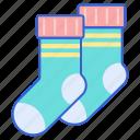 cold, footwear, socks, winter icon