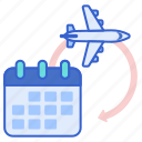 calendar, itinerary, schedule, travel icon