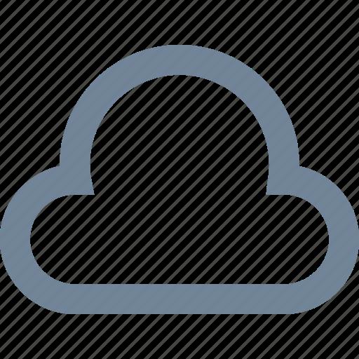 cloud, computing, line, network, storage, weather, wireless icon