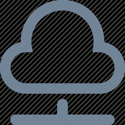 cloud, line, network, storage, wireless icon