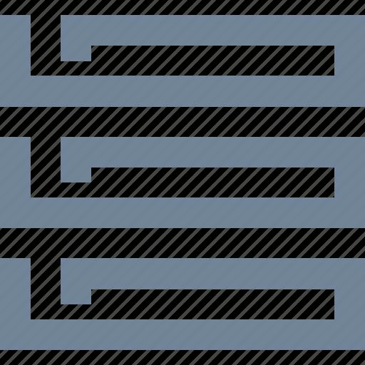line, network, server, storage icon