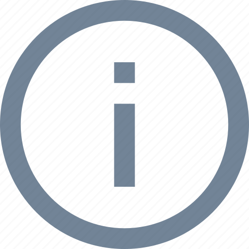 circle, information, line, sign icon