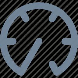 dashboard, line, network, scan, speed, test icon