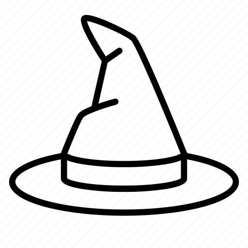hat, pointed hat, witch hat icon