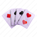 business, magic, cards, hand, playing icon