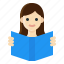 activity, book, leisure, lifestyle, read, reading, woman