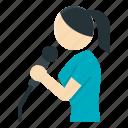 activity, karaoke, lifestyle, microphone, singer, singing, woman