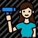 activity, beauty, dryer, hair, lifestyle, salon, woman icon
