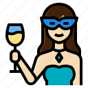 activity, beauty, cocktail, drink, lifestyle, party, woman icon