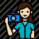 activity, lifestyle, photographer, photography, tourist, woman icon
