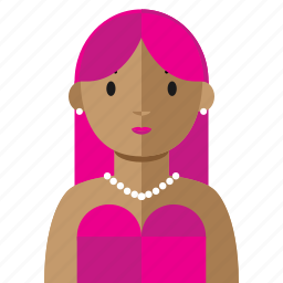 avatar, beauty, dress, party, woman icon