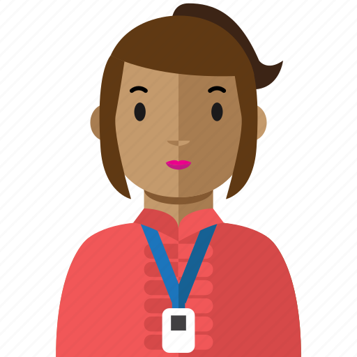 avatar, office, staff, woman, work icon
