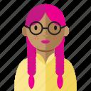 avatar, geek, nerd, smart, woman
