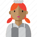 chef, cook, woman, food, avatar