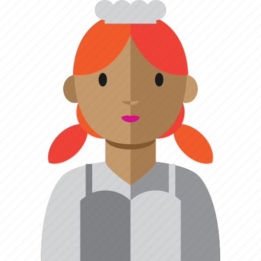 avatar, chef, cook, food, woman icon