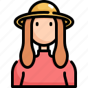 avatar, female, girl, hat, profile, user, woman