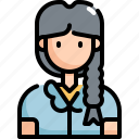 girl, user, woman, profile, avatar, student