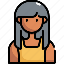 avatar, girl, profile, user, woman icon