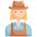 avatar, girl, hat, profile, user, woman