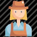 avatar, girl, hat, profile, user, woman