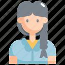 avatar, female, girl, profile, student, user, woman