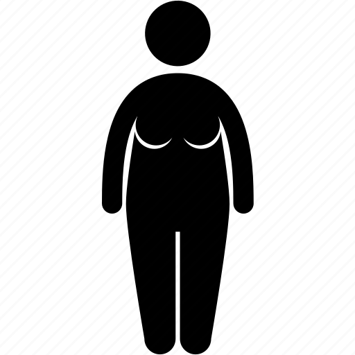 body, fat, female, figure, obese, size, woman icon
