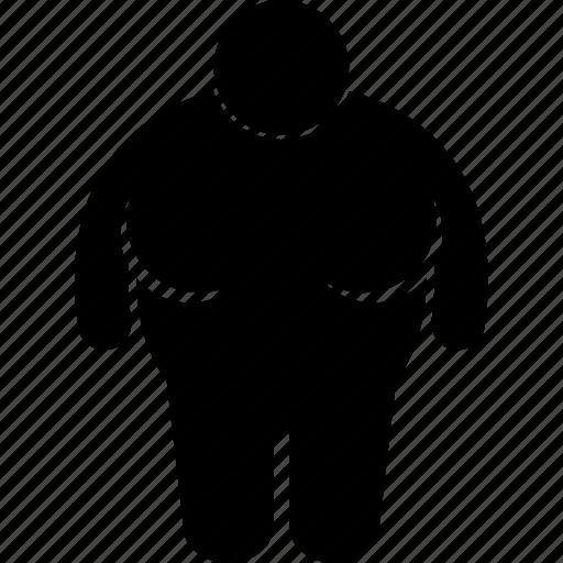 body, figure, gigantic, large, obesity, size, woman icon