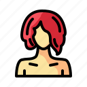 barber, beauty, hair, hairstlye, long, salon, woman icon