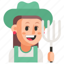avatar, farmer, job, profession, user, woman, work icon
