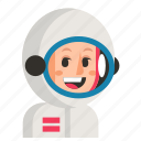 astronaut, avatar, job, profession, user, woman, work