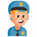 avatar, job, policeman, profession, user, woman, work icon