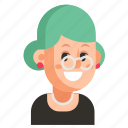 avatar, job, pensioner, profession, user, woman, work icon