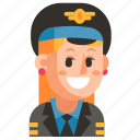 avatar, job, pilot, profession, user, woman, work icon