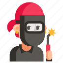 avatar, job, profession, user, welder, woman, work icon