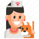 avatar, job, profession, user, veterinarian, woman, work icon
