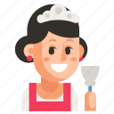 avatar, job, maid, profession, user, woman, work icon