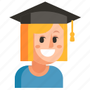 avatar, job, profession, student, user, woman, work icon