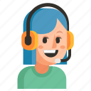 avatar, job, profession, support, user, woman, work icon