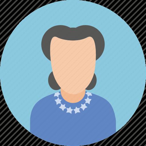 photo, profile, user, woman icon